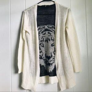 White tiger cardigan